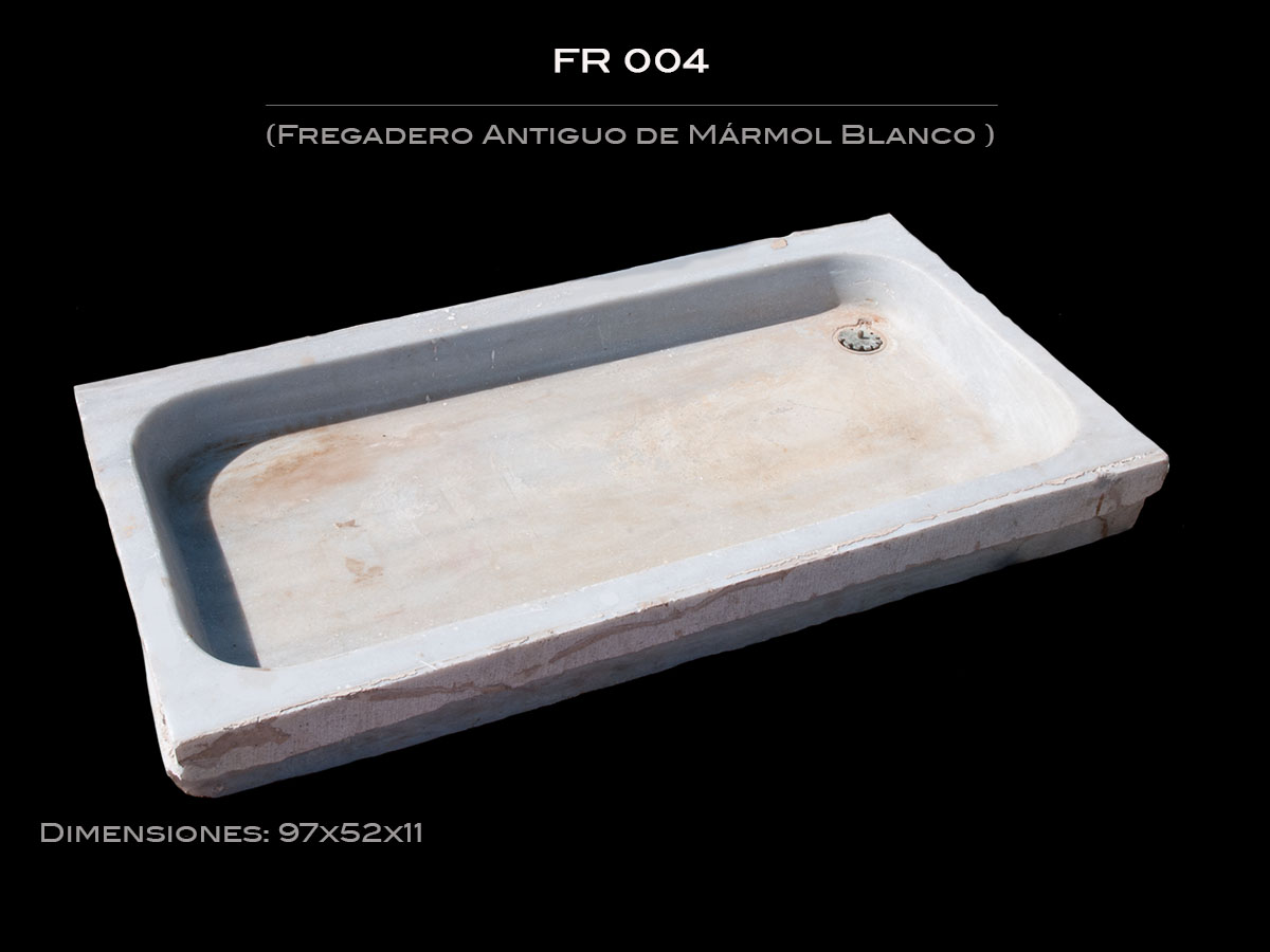 Materialancien categor a fregaderos imagen fregadero antiguo de m rmol fr 004 - Fregadero marmol ...